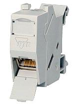 BTR network socket for Cat 6 DIN rail mounting