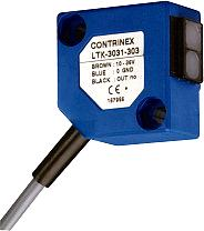 Compact, square photoelectric sensor