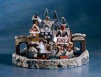 stor julby med tågstation och roterande tåg