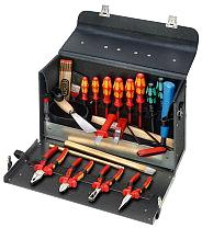 Leather tool case for electrical work