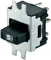 Slide switch 6 A with LED R13-604